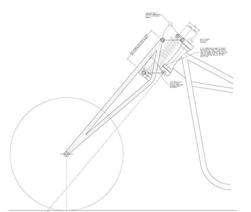 Чертежи передних вилок для мотоциклов.