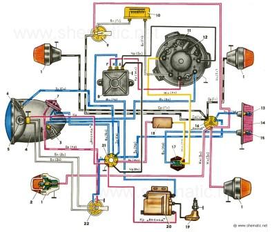 Схема электрооборудования мотоциклов Восход 2, Восход 2М и ММВЗ - 3.115.